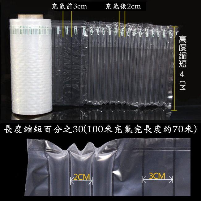 氣柱袋的規格-而近幾年市場上出現 氣柱捲(捲料)【40x100cm】 氣柱捲料 氣柱捲 由PE和尼龍組成的包裝,由於大多做成氣柱形式,所以被稱做氣柱袋。氣柱內注滿空氣,同時由於材料的優越,故緩衝抗震效果極佳。自動鎖氣與購買傳統氣泡布或是乖乖粒比,較不佔庫存空間厚度較氣袋成品厚,強度較好新型環保、無毒無味,通過SGS檢測合格。