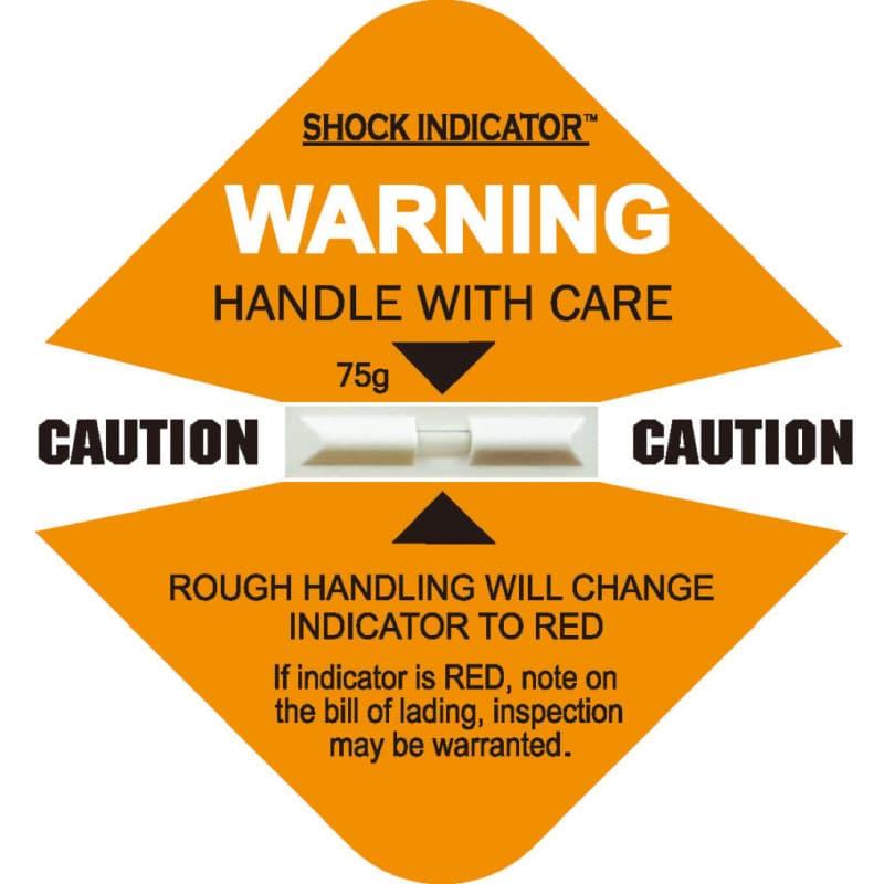衝擊指示器75g 變色龍標籤感應貼紙 Shockindicator 物流監視器 (俗名 震盪標籤貼紙 、 震盪顯示器 、 變色龍貼紙 ),與一般市 面上同性質的產品( shockwatch、tiltwatch、 衝擊指示器 、傾斜指示器 等…)