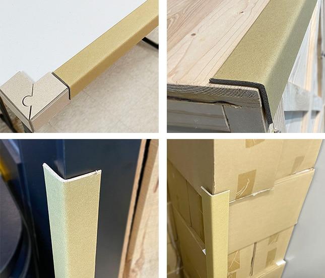 紙護角是什麼? 紙護角 又稱 邊緣板 ,是世界各地最流行的包裝產品之一,用來替代木料包裝及其他笨重的包裝方式。具有價格低、份量輕、堅固、符合環保要求等特點。又名 角紙 、 紙角鋼 ,由紗管紙和牛卡紙經成套護角機定型壓製而成,且相互垂直,可以代替木材100%回收再利用,是理想的新型綠色包裝材料。