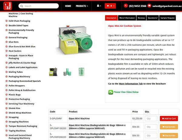 緩衝氣墊機推薦、設備功能介紹、比較、價格 桌上型緩衝氣墊製造機是一台可以透過設備輕巧又快速的製造氣墊填充袋,主要的尺寸膠膜分為2大類《40cm》與《20cm》高,當然市場上各家的膠膜配方也不一樣。 桌上型緩衝氣墊製造機一開始是由美國FP公司研發製造(MINI PAKR),也帶領了21世紀的包裝技術更上一層樓。 當然在技術專利過期之後,各家廠商也開始著手研發價格更便宜,功能更齊全的緩衝氣墊機。