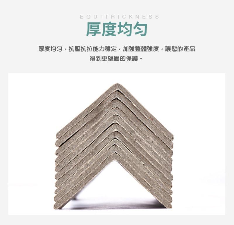 紙護角好用嗎? 紙護角也稱 護角紙板 、 邊緣板 、 角紙 , 紙護角能承重的能力强 ,是保護紙箱邊緣角的最佳包材產品,紙護角也能將產品堆疊組成一個大型货物更使商品防護的效果倍增,是現在許多公司都會選擇的產品,是低成本且實用性強!現代人都在講求環保,紙護角是新型的綠色包裝材料,是可回收再利用,且能有效降低汙染,紙護角是深受許多公司愛戴的商品。
